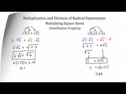 Operations with Radical Expressions- Multiplication and Division