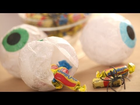 Papier-Mache Treat Eyeballs: How to Make || Kin Parents