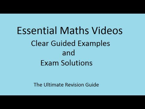 Standard form calculations - maths revision video