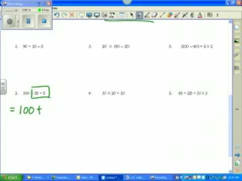 Unit 1 Lesson 1.6 order of operations