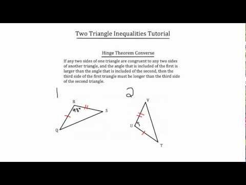 Two Triangle Inequalities