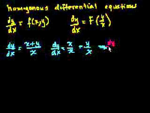 Saylor MA221: First Order Homogeneous Equations I