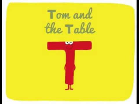 The alphabet for kids. Letter T: TOM & THE TABLE