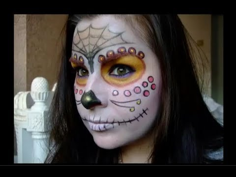 Sugar Skull Halloween make up tutorial