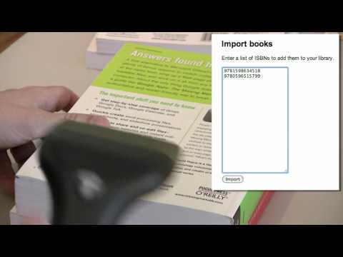 Using a barcode scanner with Google Book Search