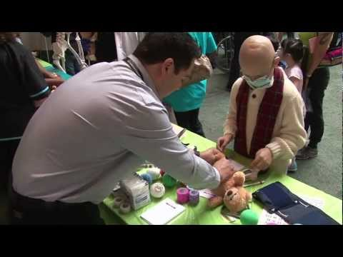 Pediatric Cancer Patients Become Doctors at Teddy Bear Clinic