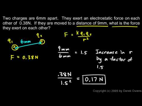 Physics 12.2.2b - Example Inverse Square Law