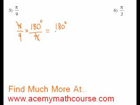 Trigonometry - Radians to Degrees Conversion (Part 3)