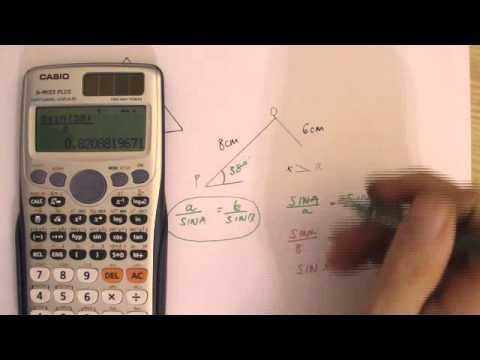Sine Rule   Ambiguous Case Scale triangle trigonometry