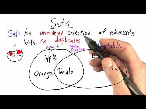 Set Theory - Python Glossary - Udacity