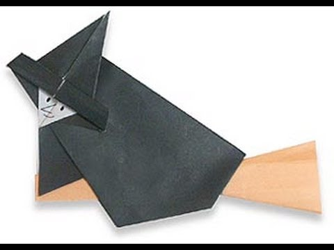 Origami Daily - 034: Halloween Wicked Witch On A Broom - TCGames [HD]