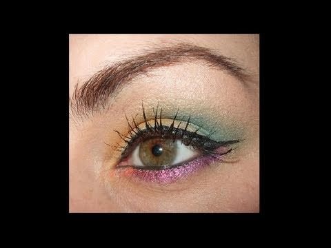 Tropical Spring make up look