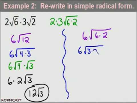 Simplifying Basic Radicals KORNCAST