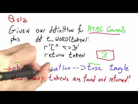 Token Counting Solution - CS262 Unit 2 - Udacity