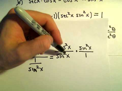 Simplifying Trigonometric Expressions Using Identities, Example 3