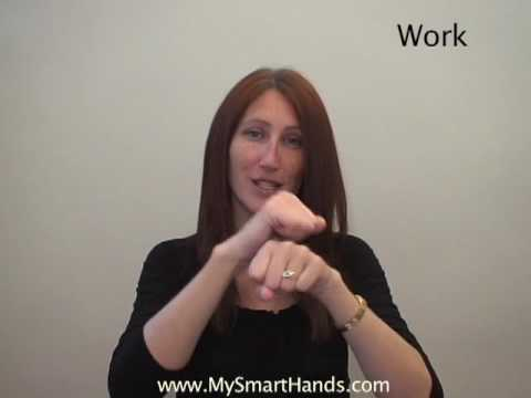work - ASL sign for work