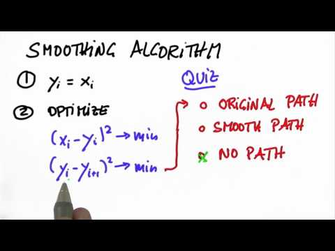 Smoothing Algorithm 2 Solution - CS373 Unit 5 - Udacity
