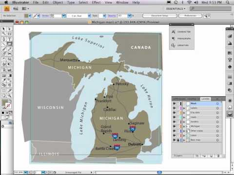 Part 9 of 9: Adobe Illustrator map tutorial TRIMMING A MAPS EDGES