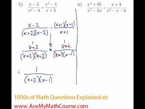 Rationals - Multiplying & Dividing Rational Expressions #5-6