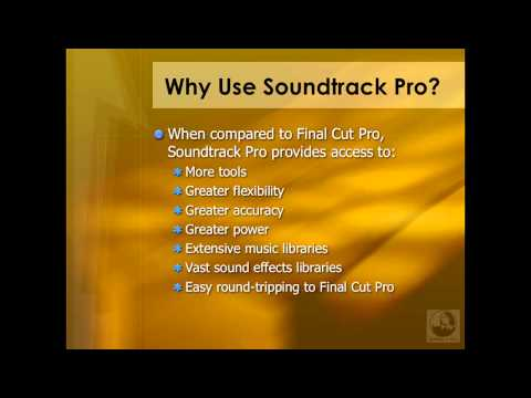 Why use Soundtrack Pro?  | lynda.com tutorial