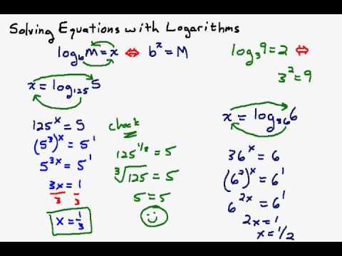 Solving Log Equations Part I
