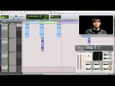 Using an audio gate on drum tracks | lynda.com tutorial