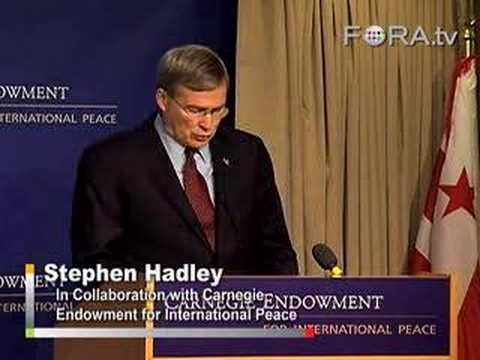 Stephen Hadley - US Peacekeeping Efforts in Africa