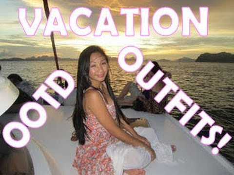 VACATION OUTFITS, OOTD while riding an ELEPHANT!