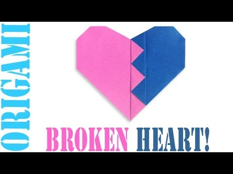 Origami Daily - 160: Broken Heart (Valentine's Day) - TCGames [HD]