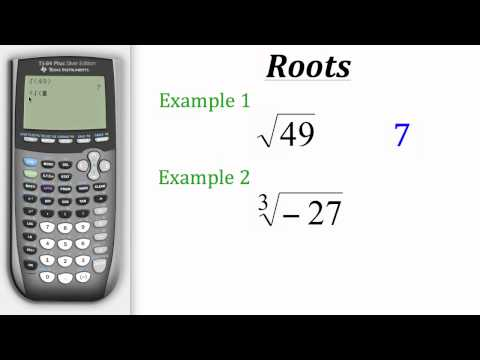 TI Calculator Tutorial: Roots
