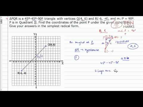 Special Right Triangles in the Coordinate Plane