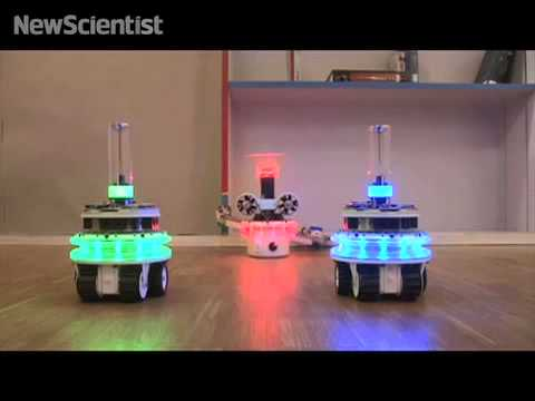Robot swarm invades from the ground and air