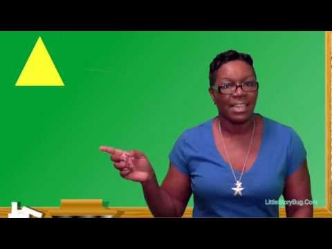 Preschool Learning - Counting Triangles - Littlestorybug