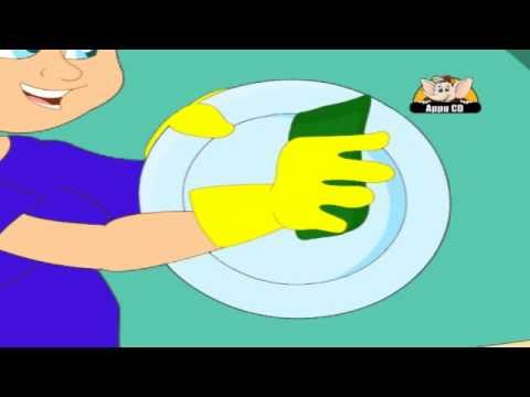 Nursery Rhyme - Wash The Dishes
