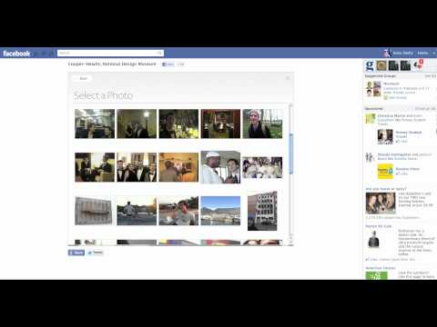 Video capture of decommissioned Cooper-Hewitt Set In Style Facebook App (2011)