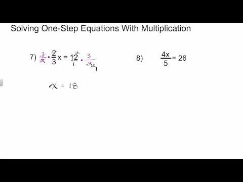 Solving One Step Equations with Fractional Coefficients | Algebra 1 How To