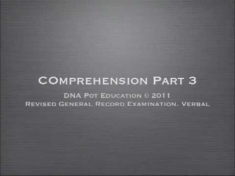 Revised GRE Verbal Section Reading.Part.3.mov