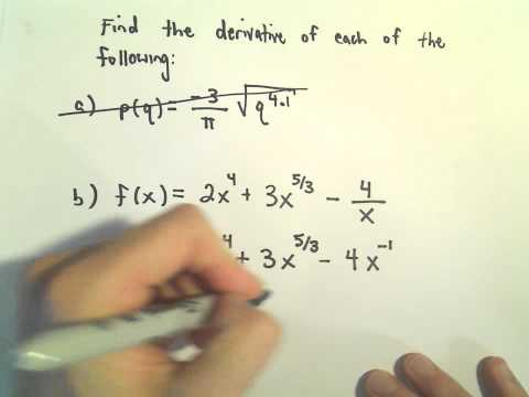 Power Rule and Derivatives, A Basic Example, #2