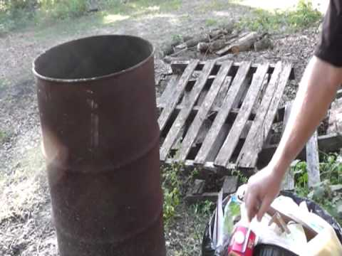 Shtf Home Garbage Incinerator : No Trash Pick Up