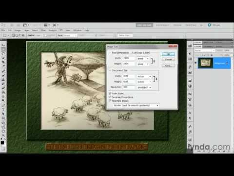 Photoshop CS5: How to resize an image | lynda.com tutorial
