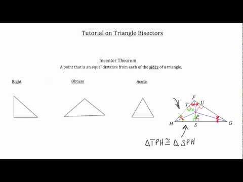 Triangle Bisectors-Textbook Tactics
