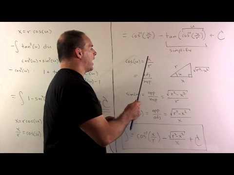 Trig Sub Integral of sqrt(4-36x^2)/x^2