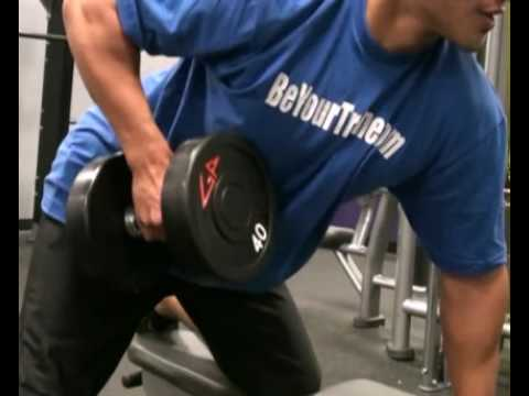 Row, 1 Arm, Dumbbells : BeYourTrainer.com