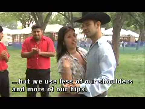 Pasito Duranguense dance demonstration by Rosa Villanueva and Manuel Ceja