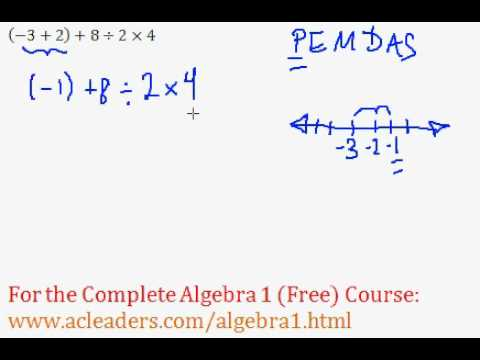 Order of Operations - Worked Example #8 (Basic Algebra Review)