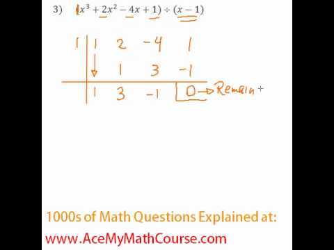 Polynomials - Synthetic Division Question #3