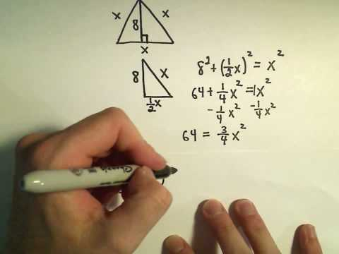 Word Problems Using the Pythagorean Theorem - Example 1
