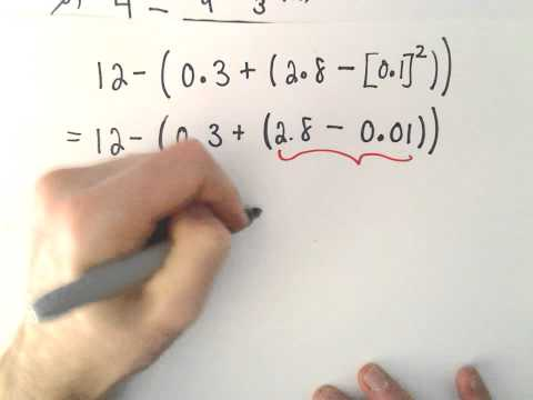 The Order of Operations With Fractions and Decimals, Ex 3