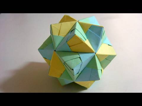 Origami Small Triambic Icosahedron (long version)