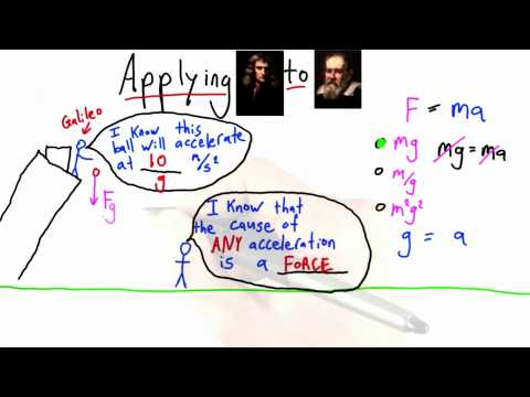Reasoning about Gravity Solution  - Intro to Physics - What causes motion - Udacity